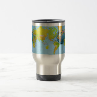 Stainless Steel 15 oz World Travel Mug