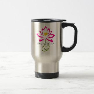 Stainless Steel Lotus Heart Zen Travel Mug