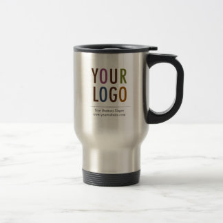 Stainless Travel Mug with Company Logo No Minimum