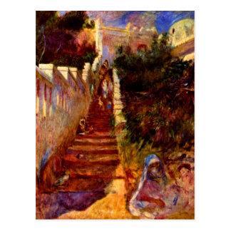 Stairs in Algier by Pierre Renoir Postcard