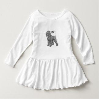 stalin dog Toddler Ruffle Dress