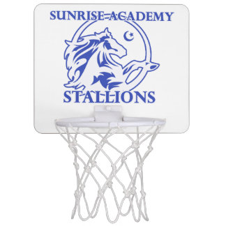 Stallion Logo Basketball Hoop
