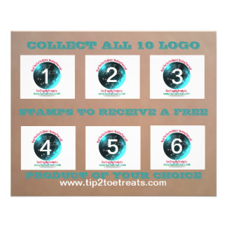 Stamp Coupon Book 11.5 Cm X 14 Cm Flyer