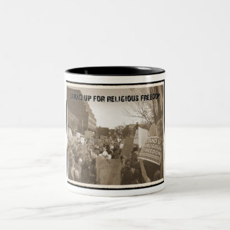 Stand Up For Religious Freedom Two-Tone Coffee Mug