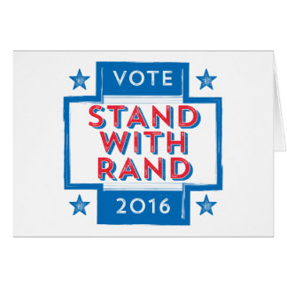 Stand with Rand 2016 Card