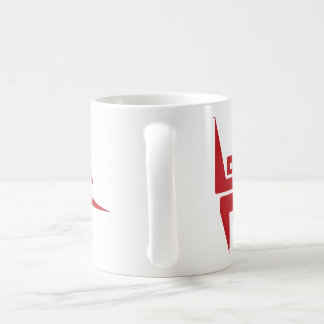 Standard 325 ml White Mug with Burgundy Logo