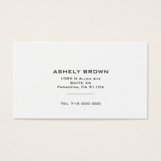 Standard Minimalist Business card