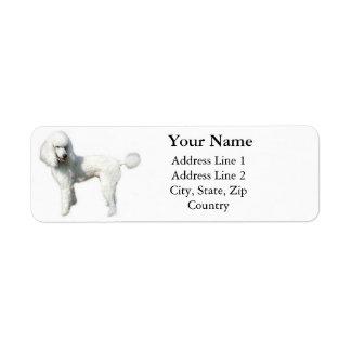 Standard Poodle Address Labels