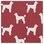 Standard Poodle Silhouettes Pattern Fabric