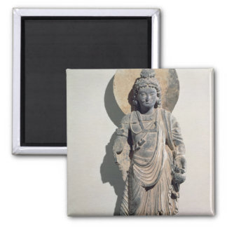 Standing Bodhisattva Maitreya, 3rd century Square Magnet