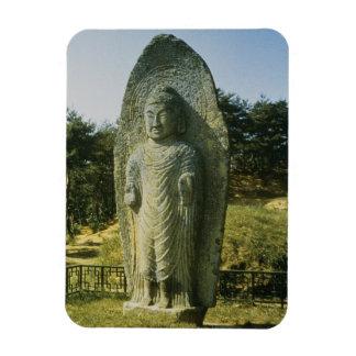 Standing Buddha at Ch'olch'on-ni, Naju, 10th centu Rectangle Magnets