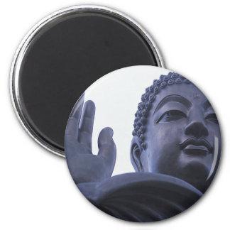 Standing Buddha ~ Thailand Temple Photo 6 Cm Round Magnet