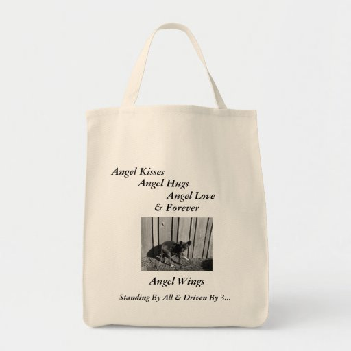 Standing By All Shopping Tote, Angel Wings Canvas Bag