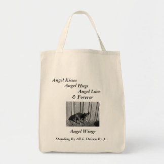 Standing By All Shopping Tote, Angel Wings Grocery Tote Bag