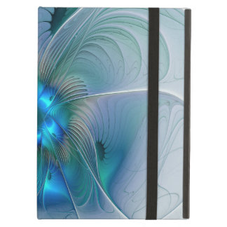Standing Ovations, Abstract Blue Turquoise Fractal iPad Air Case