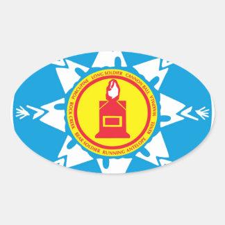 Standing Rock tribe logo Oval Sticker