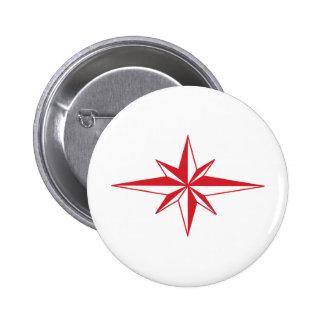 Star 6 Cm Round Badge