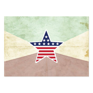 Star American Flag on Vintage Background Business Card Template