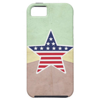 Star American Flag on Vintage Background iPhone 5 Cases
