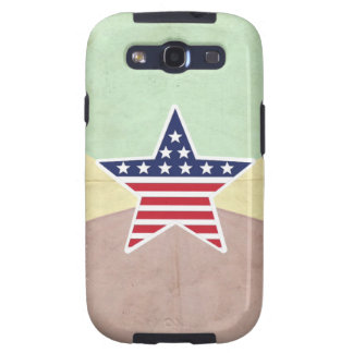 Star American Flag on Vintage Background Galaxy S3 Cases