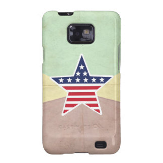 Star American Flag on Vintage Background Samsung Galaxy S2 Cover