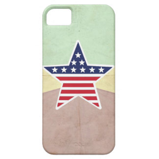 Star American Flag on Vintage Background iPhone 5 Covers