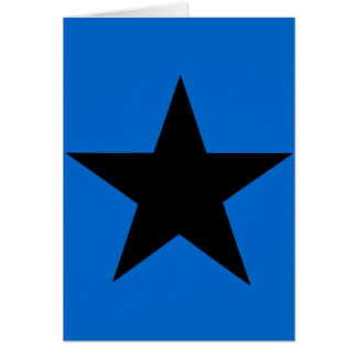 Star Black The MUSEUM Zazzle Gifts Greeting Card
