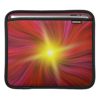 Star burst in Red Swirling Vortex iPad Sleeve