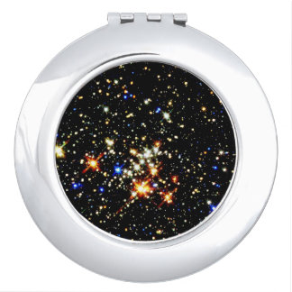 STAR CLUSTER (an outer space design) ~ Compact Mirror