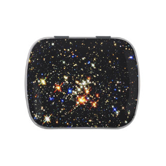 STAR CLUSTER (an outer space design) ~ Jelly Belly Tin