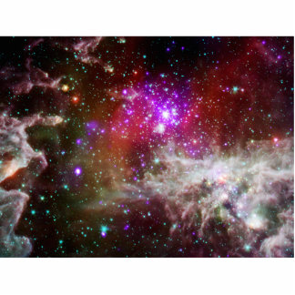 Star Cluster NGC 281 Pacman Nebula Standing Photo Sculpture