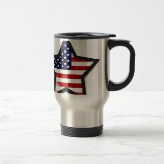 Star Flag Stainless Steel Travel Mug