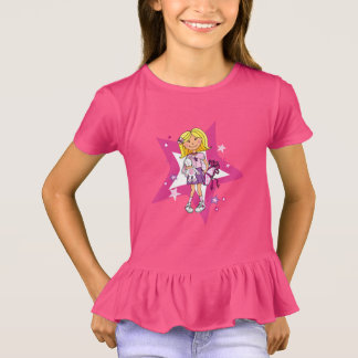 Star girly gift illlustrated graphic t-shirt
