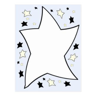 star lilac postcard