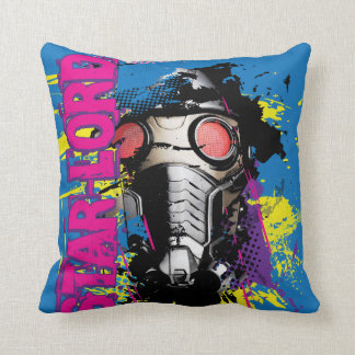 Star-Lord Paint Splatter Graphic Throw Pillows