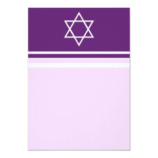 Star of David Pink and Purple Invitation