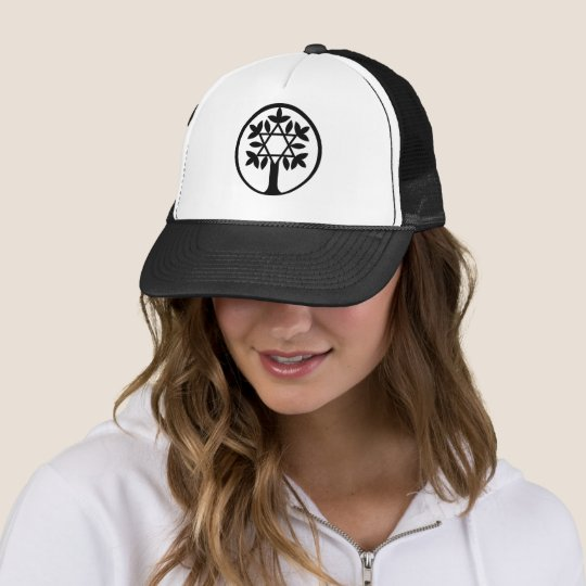 Star of David - Tree of Life Hat. Trucker Hat