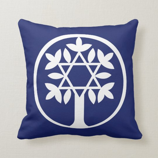 Star of David - Tree of Life Throw Pillow. Cushion