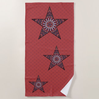 Star of Independence Beach Towel
