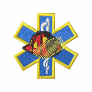 Star Of Life with Helmet Embroidered Polo Shirts