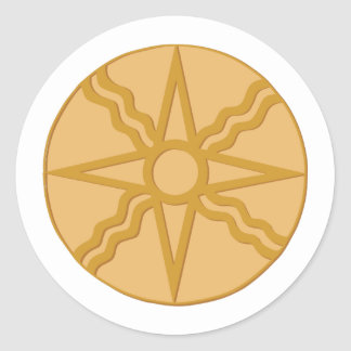 Star of Shamash Classic Round Sticker