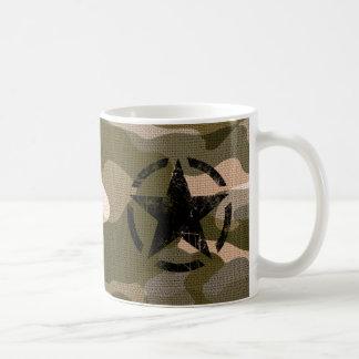 Star on Burlap style Coffee Mug