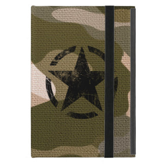 Star on Burlap style Cover For iPad Mini