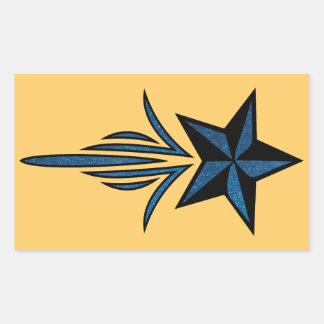 Star Pinstripe Rectangular Sticker