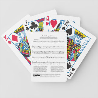 Star-Spangled Banner National Anthem Music Sheet Bicycle Playing Cards