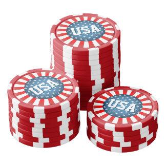 Star-Spangled Style Poker Chips