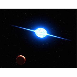 Star VFTS 102 NASA Space Art Standing Photo Sculpture
