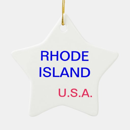 star with rhode island and providence on it. ornament