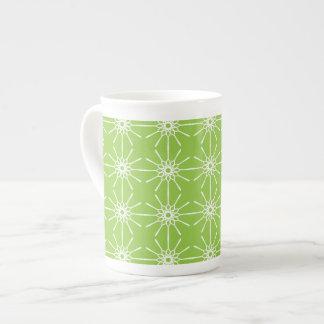 Starburst Bone China Mug - Lime Green