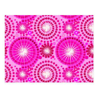 Starbursts and pinwheels, orchid and magenta postcard